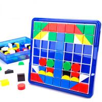 儿童3岁拼图积木 大号美术拼盘 塑料拼插玩具