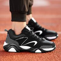 CUM 潮牌男鞋子潮流青年休闲鞋皮面跑步板鞋耐磨旅游鞋男式运动鞋学生