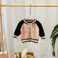 宝宝针织衫男0-1一3岁婴儿开衫秋冬装女儿童韩版外穿小童毛衣外套 图片色