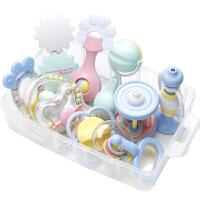 宝宝男女孩1岁摇铃 婴儿玩具0-3-6-12个月礼盒牙胶套装