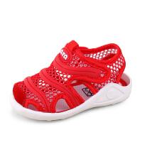 小宝宝凉鞋婴儿学步凉鞋男女网面鞋包头
