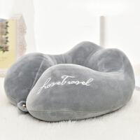 U型枕旅行枕头便携式飞机枕创意礼品水晶绒记忆枕护颈枕u形旅行枕头