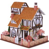 温馨DIY小屋手工制作创意房子建筑模型玩具花之小镇拼装节日毕业礼物生日礼物创意礼物礼品送情侣生日礼物
