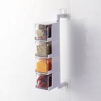 创意家居厨房用品用具小百货实用小工具抖音厨具家用生活懒人神器 白色4层 吸壁式调料盒
