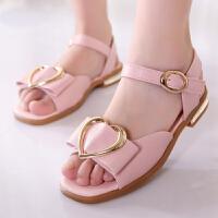童鞋女童凉鞋儿童高跟公主鞋夏季新款小女孩时尚鱼嘴凉鞋