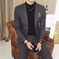 新款春秋季西服套装男士休闲韩版西装三件套伴郎修身型潮流小西装