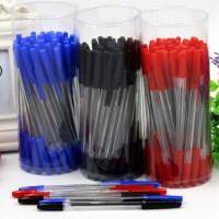 黑色红色圆珠笔批发 教师红笔1.0mm红圆珠笔红笔红笔芯