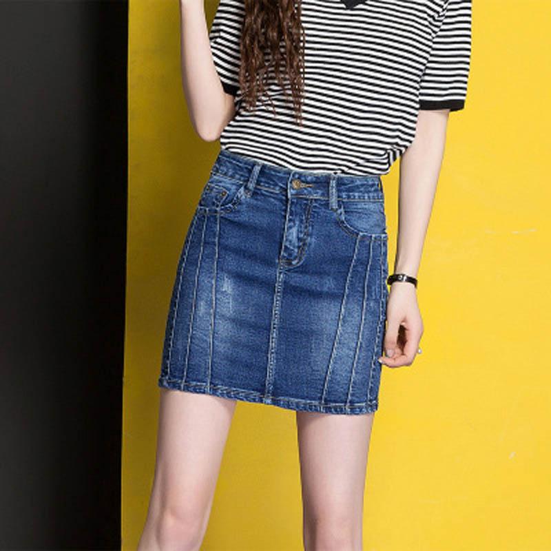 女式牛仔裙魅力百搭短裙时尚夏季韩范修身裙子