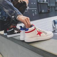 DAZED CONFUSED 潮牌秋季高帮学生板鞋男韩版潮流运动鞋青年系带休闲鞋子新款