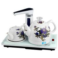金杞 HDS1010A全自动上水壶电热水壶陶瓷烧水壶家用抽水电茶壶 自动旋转加水 变色双陶瓷电热水壶