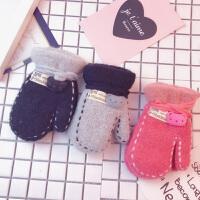 宝宝手套秋冬季1-6岁幼儿手套儿童男女童小孩保暖加绒厚可爱手套