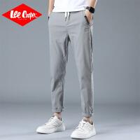 Lee Cooper2020新款弹力休闲裤男士韩版修身直筒裤子男装小脚裤男裤