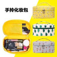 化妆包大容量便携韩国化妆袋简约化妆品收纳包盒化妆箱手提