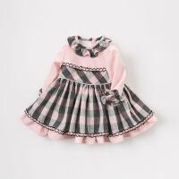 戴维贝拉女童春新款女童连衣裙宝宝公主裙DB8468