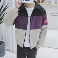 慈姑冬季男士棉衣棉袄外套韩版潮流学生衣服面包男装大码2017新款 紫色 9021
