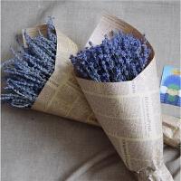 新疆薰衣草干花束生日礼盒家居客厅装饰安神助眠真花永生花 英国蓝半斤+ 干树枝