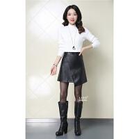 春季PU皮裙高腰半身裙字裙短裙型裙子皮短裙半裙女