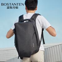 (可礼品卡支付)波斯丹顿双肩包男2018新款潮男士休闲背包电脑包防盗青年时尚潮流B6182061