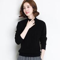 新款套头女式针织羊毛衫长袖纯色短款毛衣外套打底衫