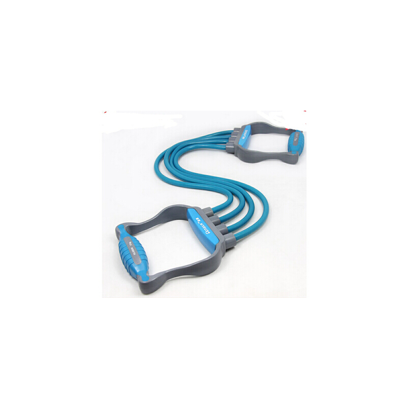 拉力绳乳胶扩胸器 弹力绳臂力器 家庭健身器材四管拉力器