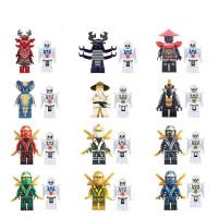 兼容 乐高幻影忍者人仔拼装积木大电影力男孩子小人偶战车玩具 米白色 忍者12款带12骷髅
