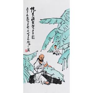 李可染《怀素种蕉学书图》