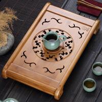 竹茶盘竹制茶托功夫茶具抽屉排水茶海功夫茶具套装抽屉式大号茶台
