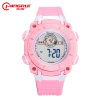 中学生手表女运动电子手表夜光果冻带跑步儿童手表