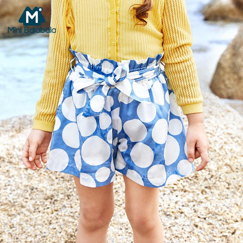 【秒杀包邮】迷你巴拉巴拉女童短裤2018夏装新品热裤韩版薄儿童童装纯棉裤子女
