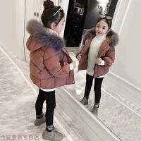 冬季童装女童棉衣2018新款洋气冬装外套儿童女孩加厚羽绒宝宝棉袄秋冬新款