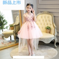 女童晚礼服儿童夏季公主裙小主持人模特走秀钢琴拖尾演出服蓬蓬裙