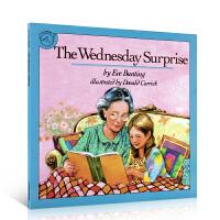 【全店满300减100】进口英文原版正版 The Wednesday Surprise 星期三的惊喜Eve Buntin
