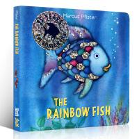 【全店300减100】英文原版绘本 The Rainbow Fish 彩虹鱼 纸板书 凯特・格林纳威奖 3-6岁绘本读物