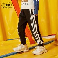 【春装上新:71.7元】小虎宝儿男童运动裤春秋款2020新款儿童纯棉休闲长裤子中大童韩版
