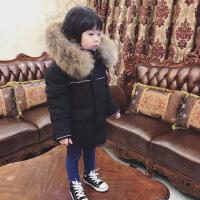 冬装婴幼儿男童女童宝宝加厚短款大毛领儿童羽绒服童装反季潮