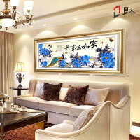 中式壁画客厅挂画有框字画国画家和万事兴装饰画