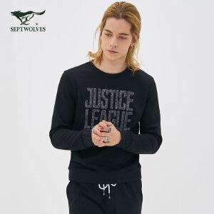 【正义联盟联名款】卫衣 青年男士圆领套头长袖T恤卫衣品牌男装