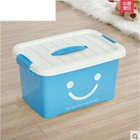 有盖大号小号手提储物箱加厚透明整理箱子透明收纳箱塑料盒子