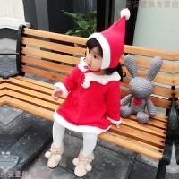 精灵女童宝宝红色裙子加绒婴儿秋冬装周岁新年圣诞衣服公主连衣裙 红色 183049 80cm 衣标XS 建议12个月左右