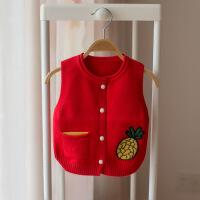 童装新款春秋季女童马甲背心儿童针织衫宝宝线衣婴儿毛衣开衫坎肩