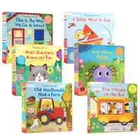 英文原版 Sing Along With Me系列6册套装 儿童启蒙童谣机关操作书 玩具纸板书