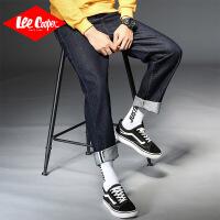 Lee Cooper新款秋季男生坠感潮牌宽松直筒裤子韩版潮流长裤牛仔裤男