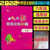 小学语文新阅读训练80篇六年级上册下册全一册通用版2022新版68所名校图书小学6年级语文阅读专项训练