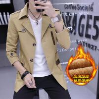 冬季新款男士夹克修身外穿青年外衣薄款风衣潮流春秋男装加绒外套