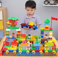 3-6周岁女孩男孩子城市积木儿童玩具拼装汽车火车