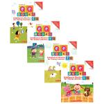 【中商原版】学乐情绪智能练习本4册 英文原版 QQ Books EQ 1-5岁 创意游戏贴纸书