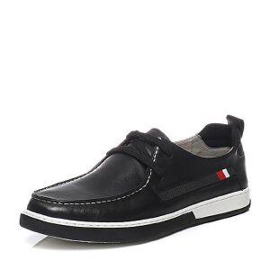 Teenmix/天美意2017夏季专柜同款软面牛皮时尚舒适系带鞋男休闲鞋BJE02BM7