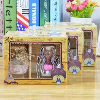 旋转沙漏许愿礼盒 创意闪光愿望瓶幸福瓶情侣礼物家居装饰摆件 颜色随机