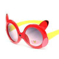 儿童太阳镜男童女童眼镜婴儿眼睛镜可爱卡通宝宝眼镜框小孩墨镜潮 红色 小浣熊