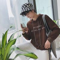 秋季男士连帽套头卫衣韩版潮学生宽松长袖圆领休闲小清新运动外套